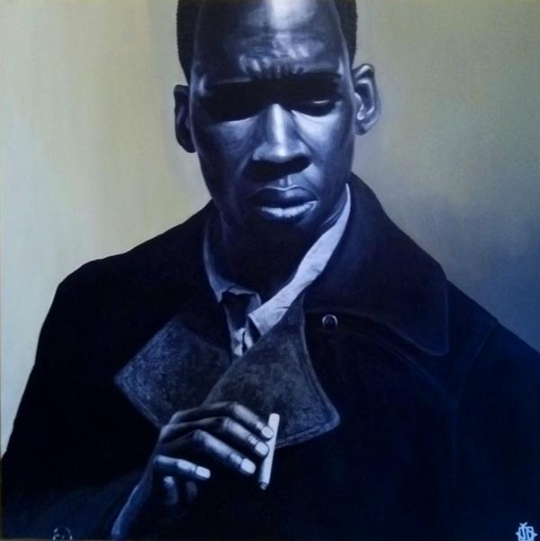 homme noir à la cigarette